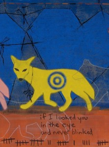 Old Coyote Trick (standing out) - detail